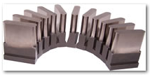 Obround cluster punches for perforating cable trays